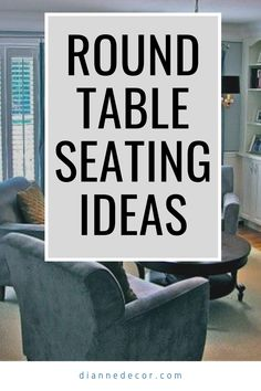 Round table sitting areas have increased in popularity over in past 10 years. So, how do you create the perfect round table sitting area?  #roundtable #conversationseating #seatingideas #livingroomideas #readingnook #roundtableseating #smalllivingroomideas #sittingroom #sittingroomideas Sitting Rooms, Sitting Area, Decorating Tips, Decorating Your Home, Living Room Decor Inspiration, Shared Rooms, Table Seating, Small Living Rooms, Reading Nook