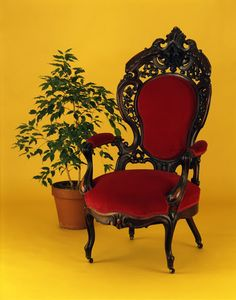 In 1866, Mary Todd Lincoln purchased a Rococo Revival style parlor set for  her Chicago, Illinois home. This exuberantly carved chair, part of the set,  cont...