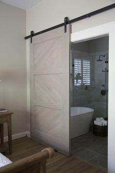 Sliding Bathroom Barn Door - Tustin, CA