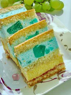 Mój kuchenny Świat: Kolorowe ciasto