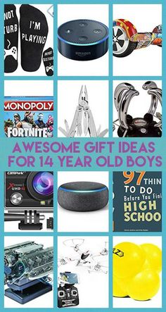 Gift Ideas for 14 Year Old Boys Are you stumped as to what to get a 14 year old boy for his birthday or Christmas? If so, this article has lots of ide. Gift Ideas for 14 Year Old Boys 14 Year Old Christmas Gifts, Teenage Boy Christmas Gifts, Tween Boy Gifts, Gifts For Teen Boys, Birthday Gifts For Boys, Boy Birthday Parties, Birthday Fun, Birthday Ideas, Teenage Boy Birthday