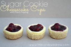 Easy Sugar Cookie Cheesecake Cup recipe!