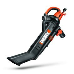 worx trivac leaf blower mulcher vacuum orange black