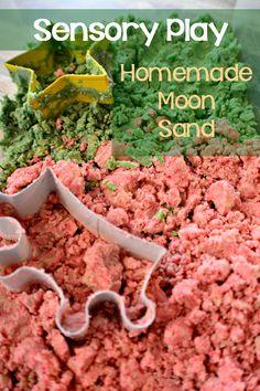 Sensory Play Time with Homemade Moon Sand - My Sweet Sanity