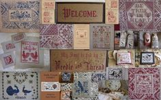 Victorian Motto Sampler Shoppe: Favorite Red Roses Boxed Floss set give-away, enter now!
