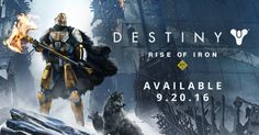 Destiny: Rise of Iron releases on Tuesday, September 20th @ 2AM Pacific. Download will be available before this time.   #DestinyTheGame #RiseofIron