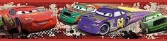 Roommates Rmk1516Bcs Disney Pixar Cars Piston Cup Racing Peel  Stick Border -- Click on the image for additional details.Note:It is affiliate link to Amazon.