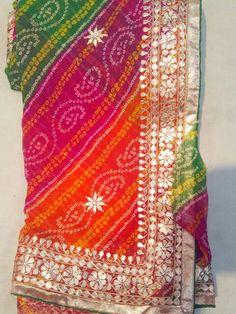 Bridal Mehndi Dresses, Pakistani Bridal Wear, Kurta Designs, Saree Blouse Designs, Indian Dresses, Indian Outfits, Bandhani Saree, Silk Sarees, Gota Patti Suits