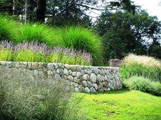 Den Friesenwall mit Lavendel und Ziergras bepflanzen