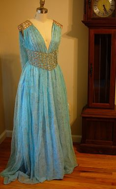Fantasia Daenerys Qarth Vestido Replica Game of Thrones Khaleesi Targaryen Season 2 - Hiper Original