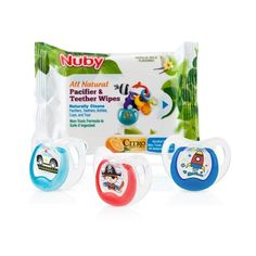 NUBY Baby  2 x Soft Edge Oval DUMMIES PACIFIERS 6m NEW