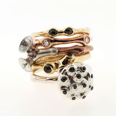 stack | All kinds of gold with some silver. For the seasonin… | Flickr