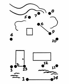 Bluebonkers: Dot to Dot coloring pages - up to 15 Dots - 22 Small Space Interior Design, Interior Design Living Room, Tracing Shapes, Dots Free, Home Themes, Kids Study, Simple Math, Connect The Dots, Activity Sheets