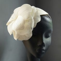 Large ivory flower headpiece by Mind Your Bonce Millinery by Karen Geraghty