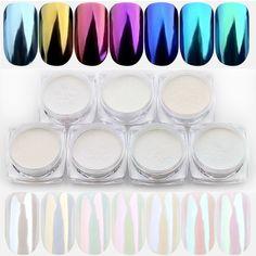1.5g/box Seashell Chameleon Mirror Nail Powder Glitters Aurora Pearlescen Shell Nail Art Chrome Pigment Dust Manicure Decoration  Price: 1.09 USD