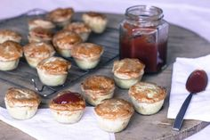 Who doesn't love a party pie? These easy homemade pies are perfect for kid's birthday parties, or on a canape platter at a cocktail party. And unlike the supermarket version, you'll know exactly what's in them. Homemade Sausage Rolls, Homemade Pies, Party Pies Recipe, Chutney, Pumpkin Quiche, Pumpkin Pies, Steak And Mushroom Pie, Lamb Pie, Mini Pastries