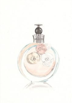 Perfume bottle illustration  Valentino Valentina EDP by MilkFoam