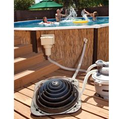 Heat your pool water the *green* way using solar energy! Works with above ground & MOST inground pools!