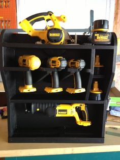 Cordless Drill Storage Rack Plans