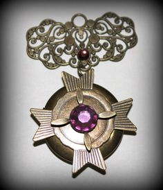 Pendant Supplies Military Locket Steampunk by EmbellishByAndrea, $4.95