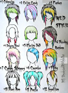Remake of emo and scene hair. but calling it that now is real stupid to me Wild Styles Part 1 Drawing Tips, Drawing Reference, Drawing Hair, Pelo Emo, Arte Emo, Emo Scene Hair, Emo Art, Scene Girls, Wild Style