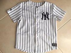 fd7824650d45f a beisbol camiseta new york yankees 1012 anos ninos majestic mlb jersey  shirt Mlb Yankees
