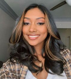 If you have long hair then give this hairstyle a try for sure! Dirty Blonde Aesthetic Hair Color For Blow Dry Hair is in trend right now so you should give it a try! You can get premium-quality Hair Extensions and Blow out weave from Indique Hair. #hair #BlowOuthair #Blowout #Bounceblowout #Blowoutweave #Blowdry #hairstyles Hair Color Streaks, Hair Color For Black Hair, Hair Highlights, Pink Hair, Blonde Hair, Balayage Straight Hair, Balayage Hair, Dye My Hair, New Hair