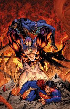 Batman & Superman vs Mongul - Brett Booth