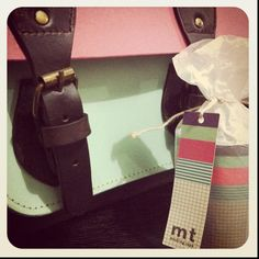 """My 11"""" SOS holiday satchel and MT masking tapes from Heima Makati. :)"""