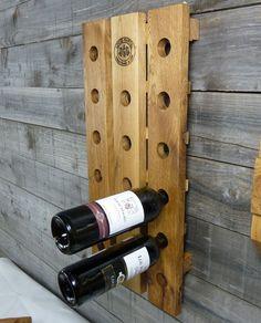 massiv Eiche Weinregal Flaschenregal Holz Weinschrank Flaschenhalter   eBay