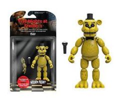 FIVE NIGHTS AT FREDDY'S - GOLD FREDDY ACTION FIGURE