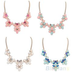 Find More Chain Necklaces Information about Fashion Women's Crystal Flower Chunky Statement Bib Pendant Chain Choker Necklace,High Quality choker necklace silver,China necklace l Suppliers, Cheap choker necklace chain from BlueSky-Wholesale on Aliexpress.com