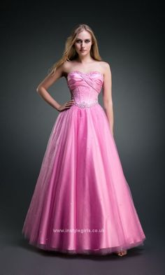 prom dress 2014 pink ball gowns UK