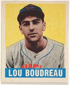 1948-1949 Leaf 106 Lou Boudreau Cleveland Indians Baseball Card
