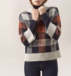 Buy Hobbs Faye Roll Neck Jumper, Pumpkin from our Women's Knitwear range at John Lewis & Partners. Roll Neck Jumpers, Roll Neck Sweater, Hobby Shops Near Me, Hobbs Coat, Hobbs London, Fashion 2017, Her Style, Plaid Scarf, Long Sleeve Tops