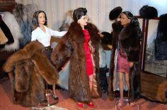 Barbie goes fur shopping