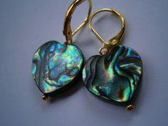 Ohrringe,Herz,Opal der Meere,Abalone von kunstpause auf DaWanda.com