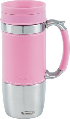 Board Room Travel Mug 16-oz, Pink/Silver - #valentinesday