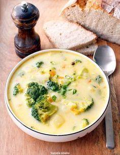 Zupa brokułowa Soup Recipes, Diet Recipes, Vegetarian Recipes, Cooking Recipes, Healthy Recipes, Good Food, Yummy Food, Special Recipes, Food Design
