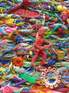 Jo Atherton marine debris Tapestries