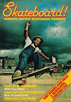 SkateBoard! UK mag cover from 1978