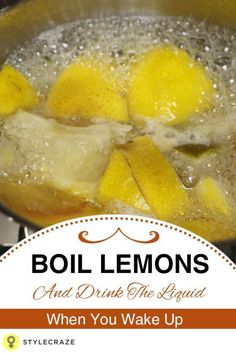 Boil Lemons And Drink The Liquid As Soon As You Wake Up. You Will Be SHOCKED By The Results! #detoxdrinks Lemon Water Benefits, Lemon Health Benefits, Lemon Water Detox, Lemon And Honey Water, Warm Lemon Water, Ginger Water, Healthy Detox, Healthy Drinks, Easy Detox