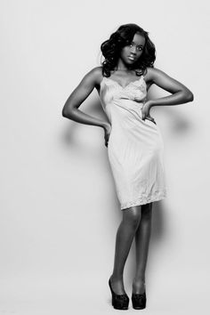 The gorgeous Nelly in one of our vintage slips.    Photo by Tom Newton. xx!