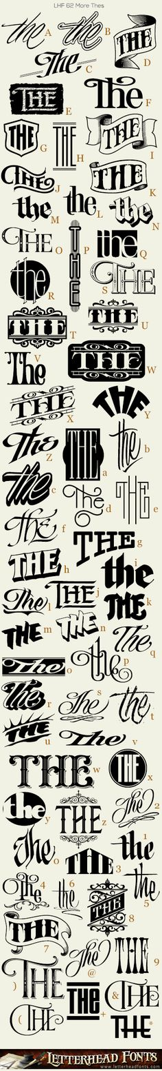 Letterhead Fonts / 62 More Thes font / Word Fonts