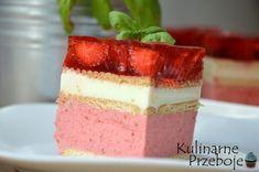 Truskawkowiec bez pieczenia Recipe Box, Vanilla Cake, Cheesecake, Pudding, Yummy Food, Cookies, Recipes, Google, Cake Ideas