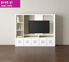 Și televizorul tău se bucură de o căsuță nouă. LAPPLAND comodă TV Preț vechi: 599 lei, Preț nou: 490 lei Din 18 decembrie redistribuim scăderea TVA-ului. Tv Shelf, Shelves, Ikea Lappland, Rak Tv, Ikea Tv, Sitting Rooms, Tv Cabinets, Tv Unit, Farm House