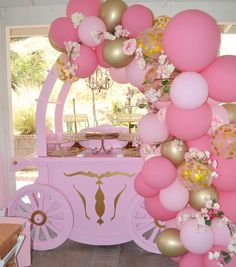 Having a princess theme party? Don't forget to book your princess carriage ❤️ Royal Princess Birthday, Princess Birthday Party Decorations, Prince Birthday Party, 1st Birthday Party For Girls, Princess Theme Party, Baby Shower Princess, 25th Birthday, Party Themes, Birthday Ideas