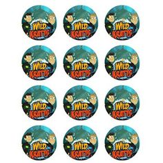 Wild Kratts Cupcake Toppers - Set of 12 6th Birthday Parties, 4th Birthday, Birthday Ideas, Edible Printing, Wild Kratts, Edible Cupcake Toppers, Birthday Places, Party Themes, Party Ideas