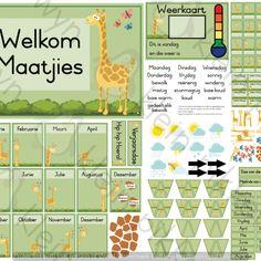 Kleur Plakkate A4 - Teacha! Birthday Chart Classroom, Birthday Charts, Classroom Themes, Giraffe Birthday, Bag Names, Theme Pictures, Months In A Year, Teaching Resources, Homeschool