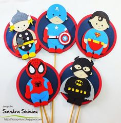 fun-ideas handmade Arte Punch, Paper Punch Art, Avengers, Craft Punches, Owl Punch, Superhero Birthday Party, Batman, Superman, Kid Character